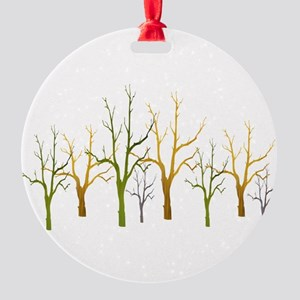 Winter of Trees Round Ornament