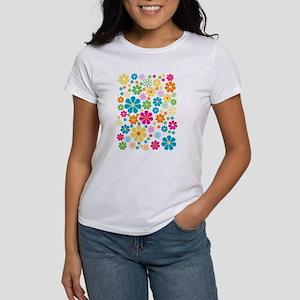 Colorful Daisy Flowers Women's Cap Sleeve T-Shirt