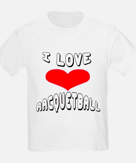 I love Racquetball Games T-Shirt