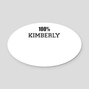 100% KIMBERLY Oval Car Magnet