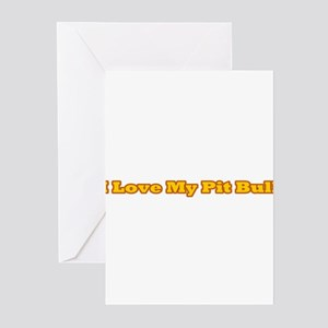 I Love My PB (yellow) Greeting Cards (Pk of 10