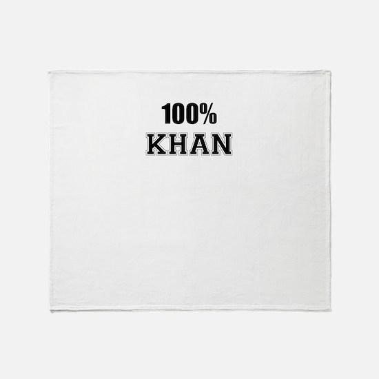 100% KHAN Throw Blanket