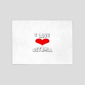 I love Netball Games 5'x7'Area Rug
