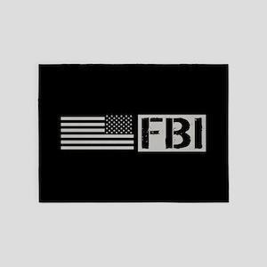 FBI: FBI (Black Flag) 5'x7'Area Rug