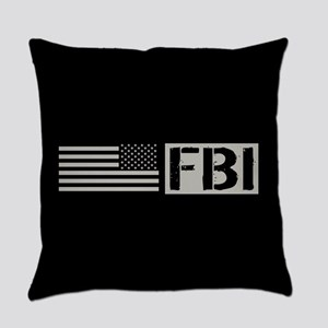 FBI: FBI (Black Flag) Everyday Pillow