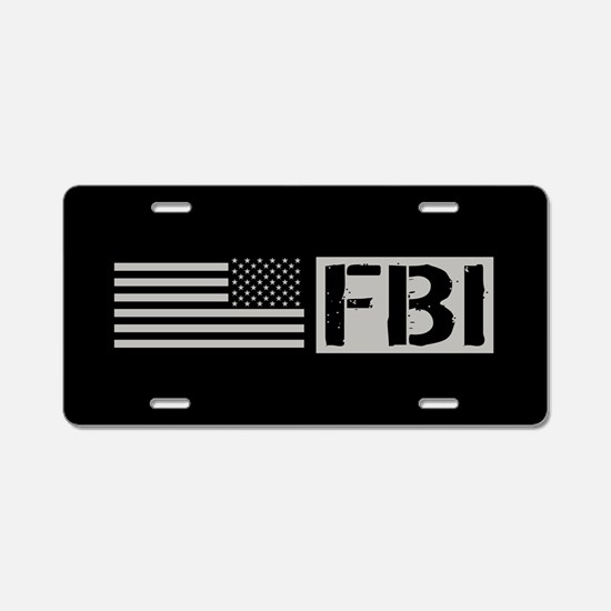 FBI: FBI (Black Flag) Aluminum License Plate