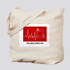 The Beat Goes On - Funny Post-Heart Surgery Tote B
