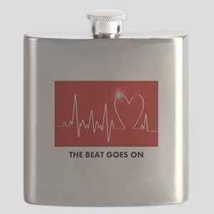 The Beat Goes On - Funny Post-Heart Surgery Flask