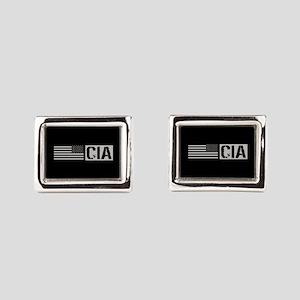 CIA: CIA (Black Flag) Rectangular Cufflinks