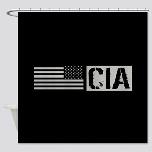 CIA: CIA (Black Flag) Shower Curtain