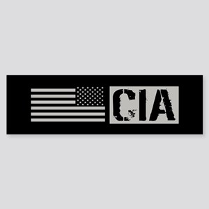 CIA: CIA (Black Flag) Sticker (Bumper)