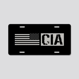 CIA: CIA (Black Flag) Aluminum License Plate