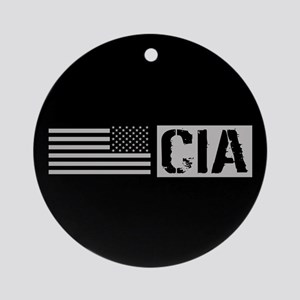 CIA: CIA (Black Flag) Round Ornament