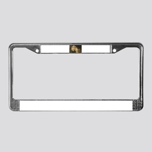 LOVE AT FIRST License Plate Frame