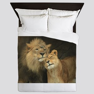LOVE AT FIRST Queen Duvet