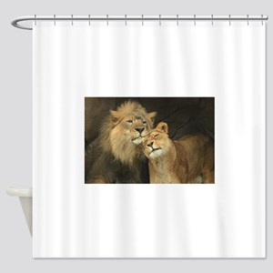LOVE AT FIRST Shower Curtain