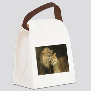 LOVE AT FIRST Canvas Lunch Bag