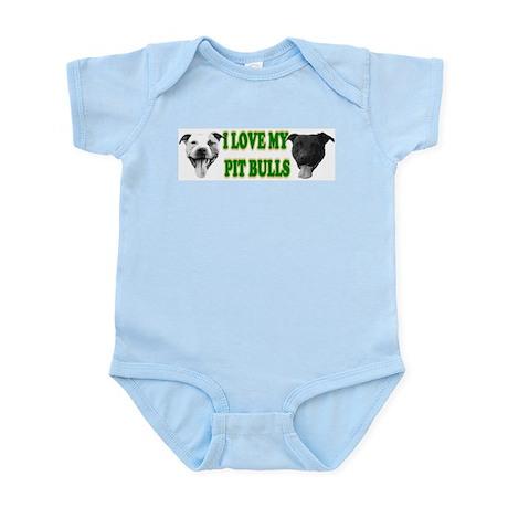 I Love My PBs (green) Infant Creeper
