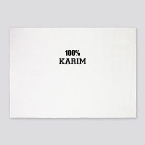 100% KARIM 5'x7'Area Rug