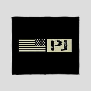 U.S. Air Force: Pararescue (Black Fl Throw Blanket