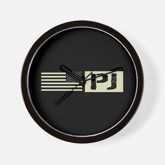 U.S. Air Force: Pararescue (Black Flag) Wall Clock