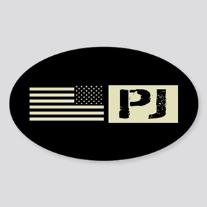 U.S. Air Force: Pararescue (Black F Sticker (Oval)