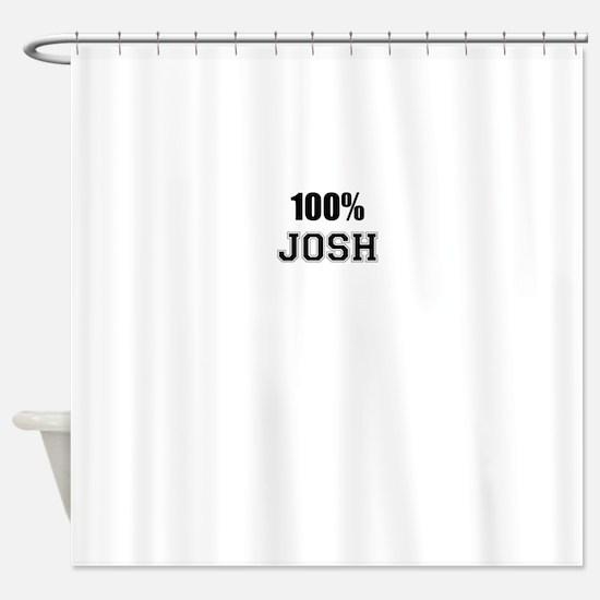 100% JOSH Shower Curtain