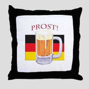 German Beer Prost Throw Pillow