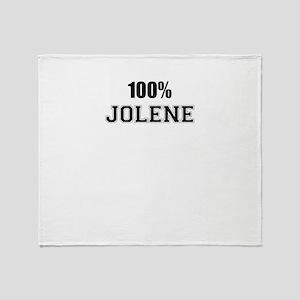 100% JOLENE Throw Blanket