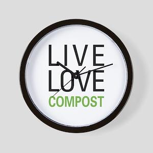 Live Love Compost Wall Clock