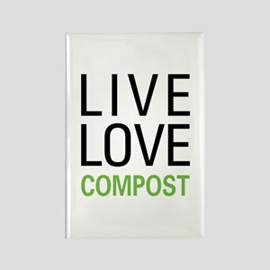 Live Love Compost Rectangle Magnet (10 pack)