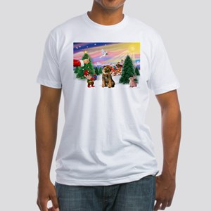 Santa's Treat /Border T Fitted T-Shirt