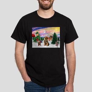 Santa's Treat /Border T Dark T-Shirt