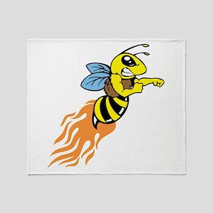 Bee Mascot Throw Blanket