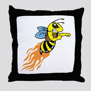 Bee Mascot Throw Pillow