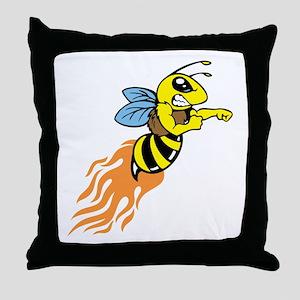 Bee Mascot Throw Pillow