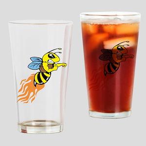 Bee Mascot Drinking Glass