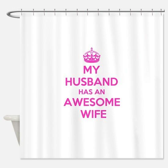 Cute I love my husband Shower Curtain