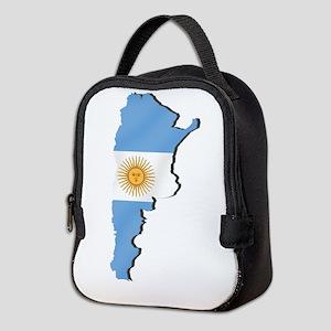 Argentina Flag Map Neoprene Lunch Bag