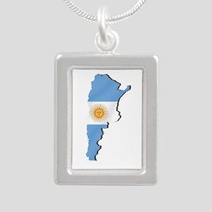 Argentina Flag Map Necklaces