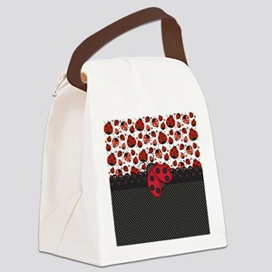 Pawn Ladybugs Canvas Lunch Bag