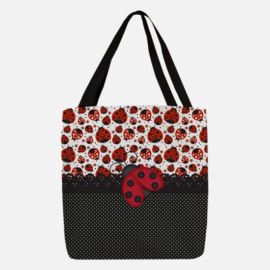 Pawn Ladybugs Polyester Tote Bag