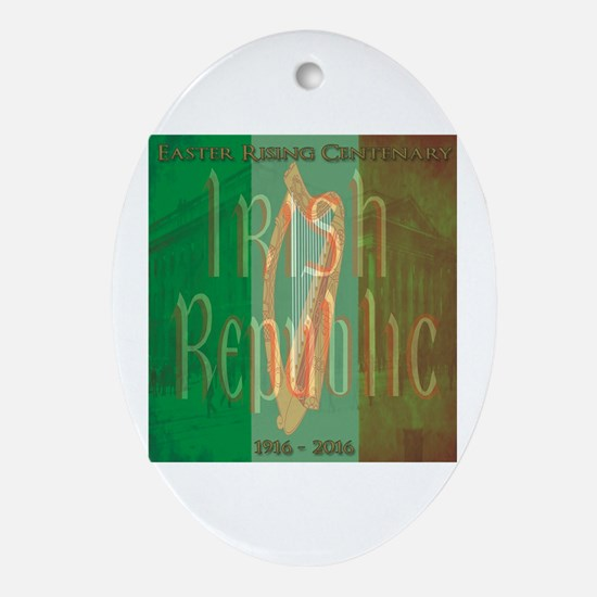 Cute Easter rising Oval Ornament