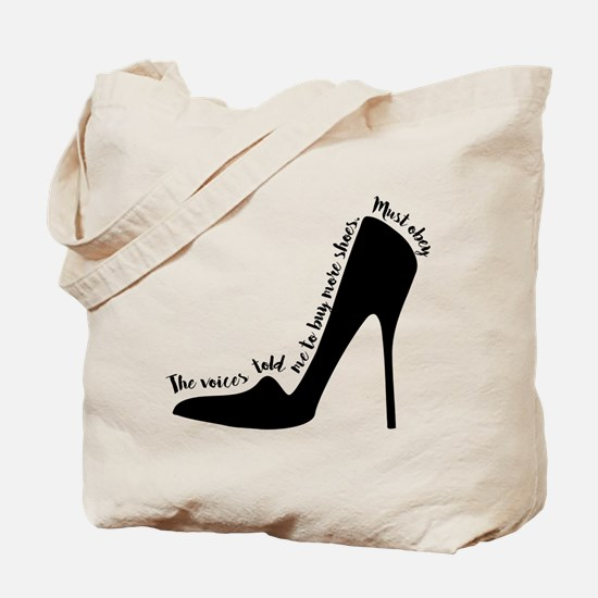 Voices Told me to Buy Shoes Tote Bag