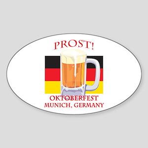 Munich Germany Oktoberfest Oval Sticker