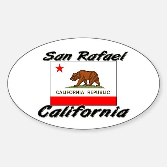 San Rafael California Oval Decal