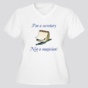 Secretary Women's Plus Size V-Neck T-Shirt
