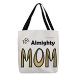 Almighty Mom Polyester Tote Bag