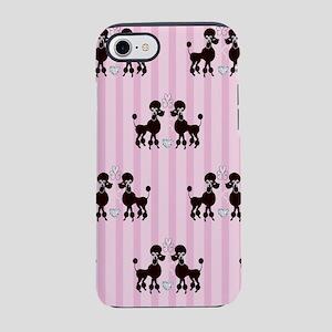 Black Poodles And Diamonds iPhone 8/7 Tough Case