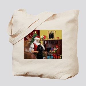 Santa's Poodle (ST-B2) Tote Bag
